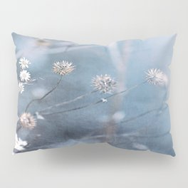 Dusty Fog Flowers Pillow Sham
