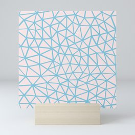 Seg Blue Pink Mini Art Print