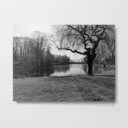Bruges little lake Metal Print