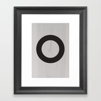 Circle Black Framed Art Print