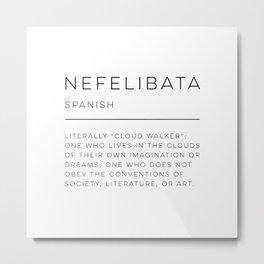Nefelibata Definition Metal Print
