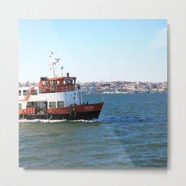 Tejo Ferry Lisbon Metal Print