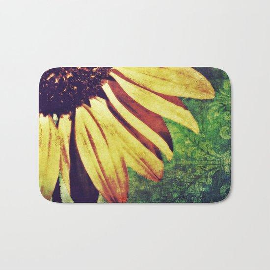Sunflower Fleur De Lis Bath Mat