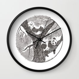 Panda bears Wall Clock
