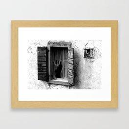 The wooden shell Framed Art Print