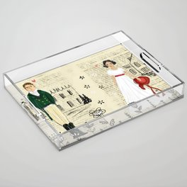 Mr.Darcy of Pemberley and Miss Bennet of Longbourn Acrylic Tray
