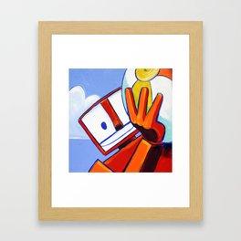 Beachballer Framed Art Print