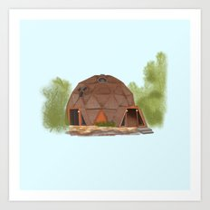 Geodesic Dome Home - Warren OH Art Print