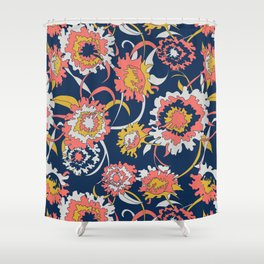 Bold Chinoiserie Floral - Limited Color Palette 2019 Shower Curtain