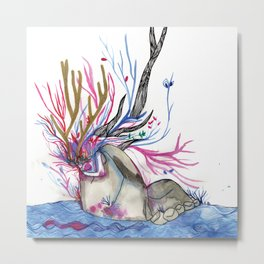 The nature woman Metal Print