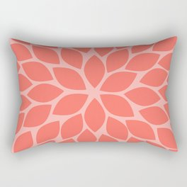 Coral Chrysanthemum Rectangular Pillow