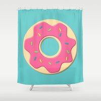 donut Shower Curtains featuring Donut by JJ's Photography