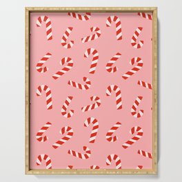 Candy Canes - Pink Serving Tray
