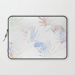 Palmetto Fronds Pattern Pastel Pink Blue Laptop Sleeve
