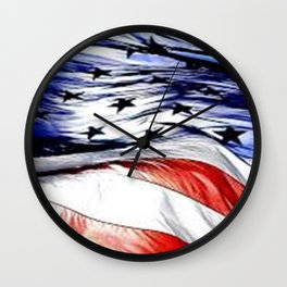 Land Of The Free. Wall Clock