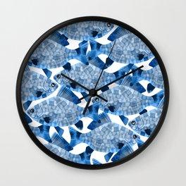 Fish pettern Wall Clock