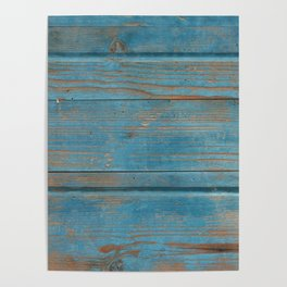 blue wooden background Poster