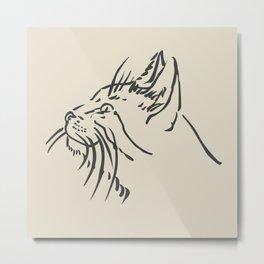 Wishful Whiskers Cat Metal Print