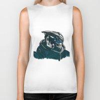 garrus Biker Tanks featuring Garrus by Cat Milchard