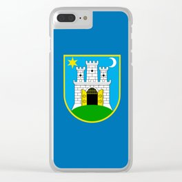 Flag of Zagreb Clear iPhone Case