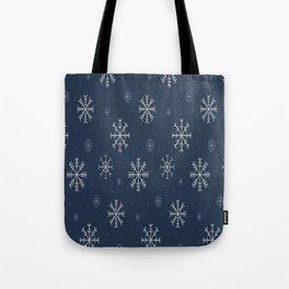 Artistic snowflakes pattern Tote Bag