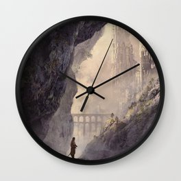 WHITE TOWERS Wall Clock