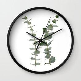 Eucalyptus Branches I Wall Clock