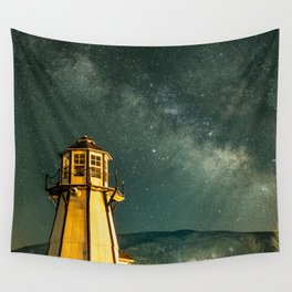 Mountain Light House Wall Tapestry