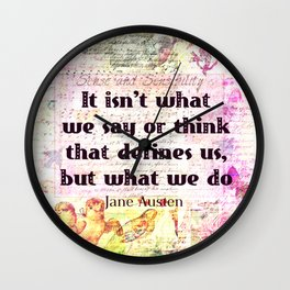 Jane Austen quote Sense and Sensibility Wall Clock