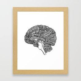 The brain Framed Art Print
