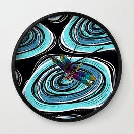 Dragonfly Ripple Wall Clock
