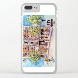 NY Street Motiongate Theme Park Dubai Clear iPhone Case