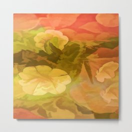 Homespun Floral Metal Print