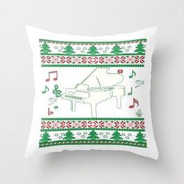 Piano Christmas Throw Pillow