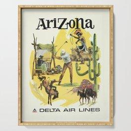 Vintage poster - Arizona Serving Tray