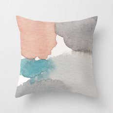 Water and color 22 Throw Pillow