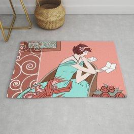 CLARICE: Art Deco Lady - Late Summer Rug