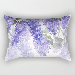 Purple Wisteria Flowers Rectangular Pillow