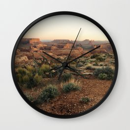 Monument Valley Morning Wall Clock