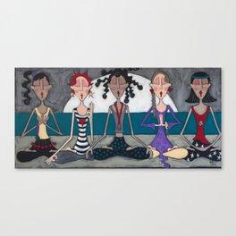 meditators Canvas Print