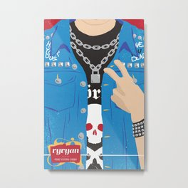 The Young Ones Poster Series :: Vyvyan Metal Print