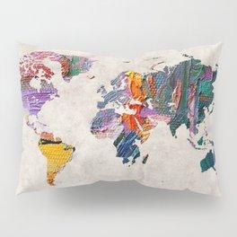 World Map 59 Pillow Sham