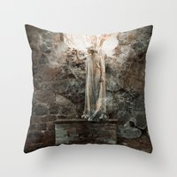 bible verses Throw Pillows featuring The Dying Verses 3 by Helheimen Design
