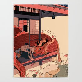 Tell a Dragon Colorful Stories Poster