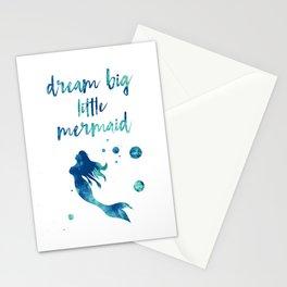 Dream Big Little Mermaid Stationery Cards