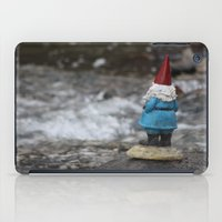gnome iPad Cases featuring River gnome by Rose&BumbleBee