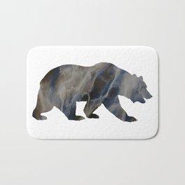Marble Bear Silhouette Bath Mat