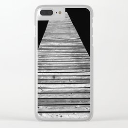 Wood On Lake 4 Clear iPhone Case