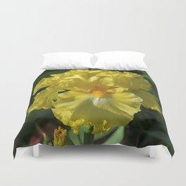 Golden Iris flower - 'Power of One' Duvet Cover