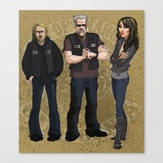 Sons of Anarchy Illustration Canvas Print